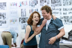 smallChichester Festival Theatre production of Mack and Mabel. Michael Ball and Rebecca LaChance in rehearsals. Photo by Manuel Harlan. REH-61